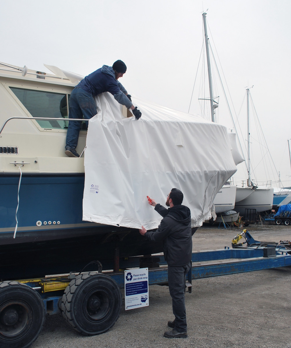 A new video from Ohio Clean Marinas Program shows how to prepare boat shrink wrap