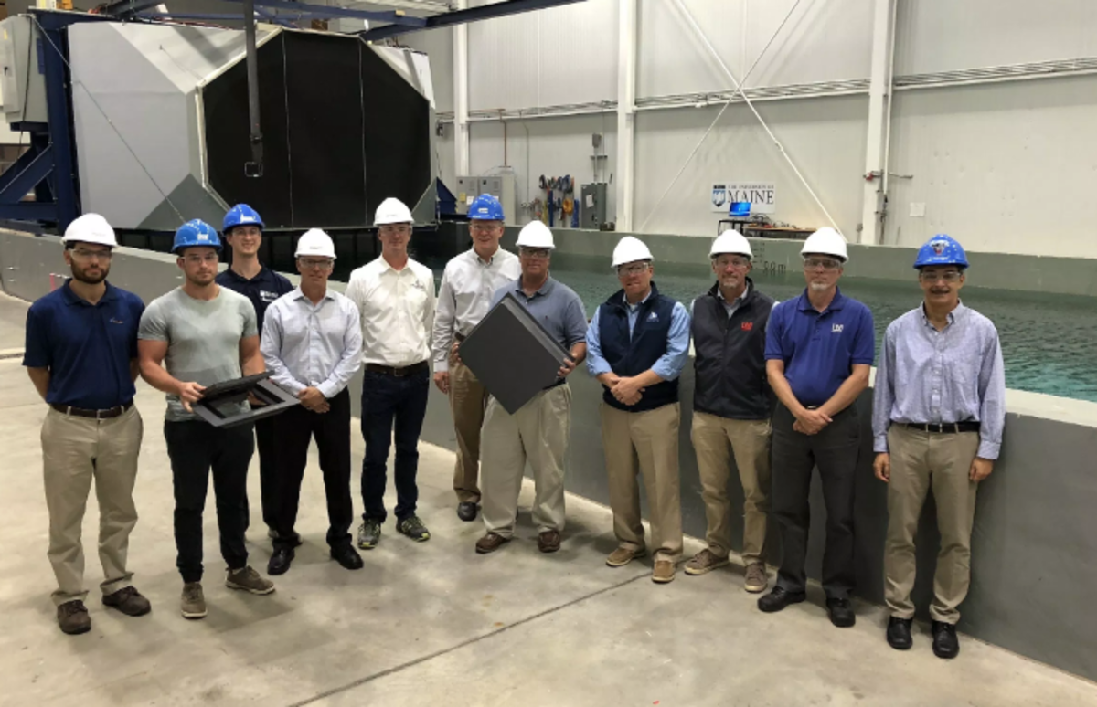Maine boatbuilders visit the Advanced Structures and Composites Center at the University of Maine to kick off the formation of a consortium focused on providing 3D printing technology to the boatbuilding industry. Photo courtesy of the Advanced Structures and Composites Center.