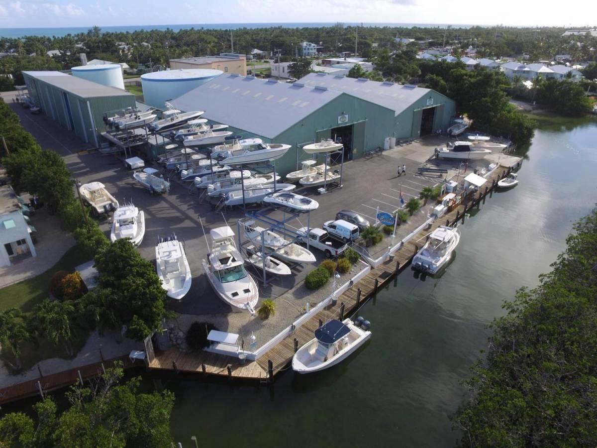 Caribee Boat Sales and Marina is a full-service facility.
