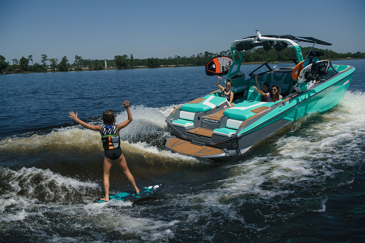 Nautique is manufactured at the Orlando facility. Pictured here is the new 2021 Super Air Nautique G23.