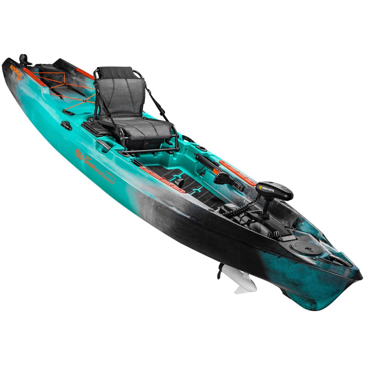 Overall winner, the Old Town Sportsman AutoPilot kayak utilizes Minn Kota's Spot-Lock technology.