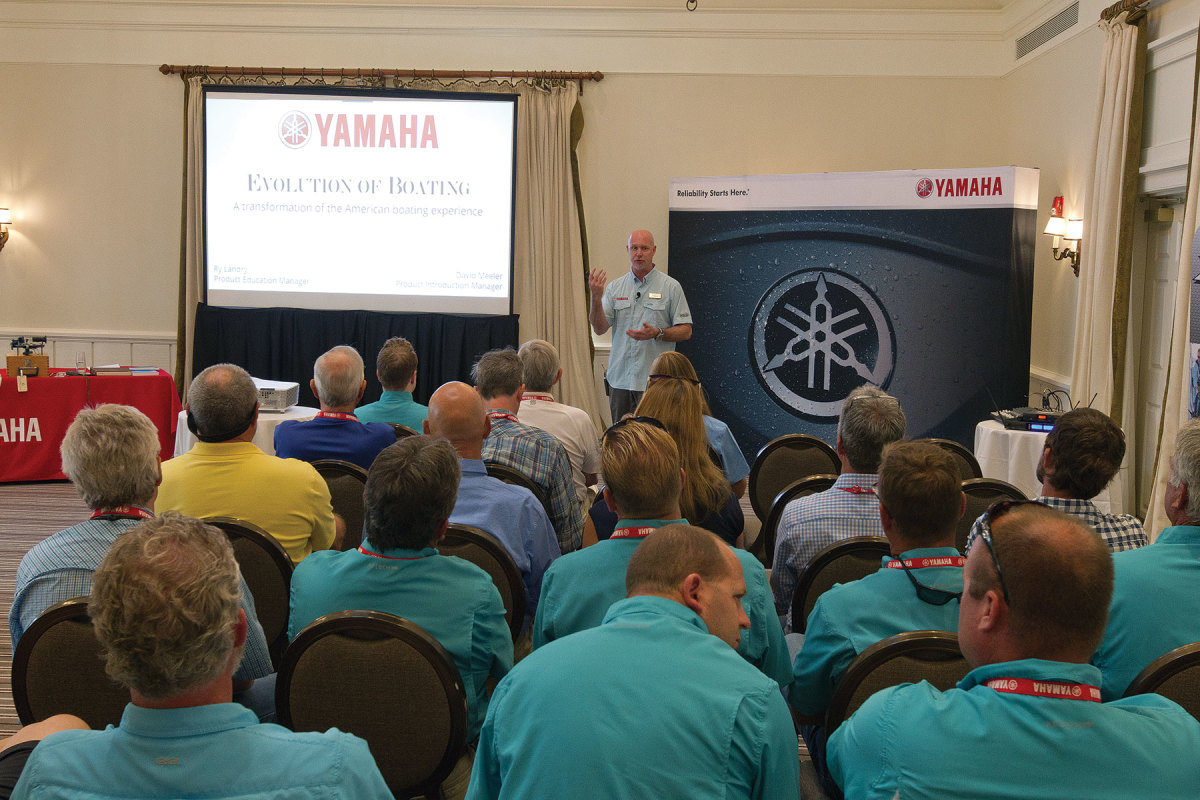 Yamaha held a well-attended media event in St. Michaels, Md., last year.