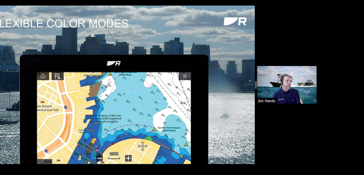 Raymarine had to scramble to prep a virtual launch for its Axiom+ series  MFDs and updated software.
