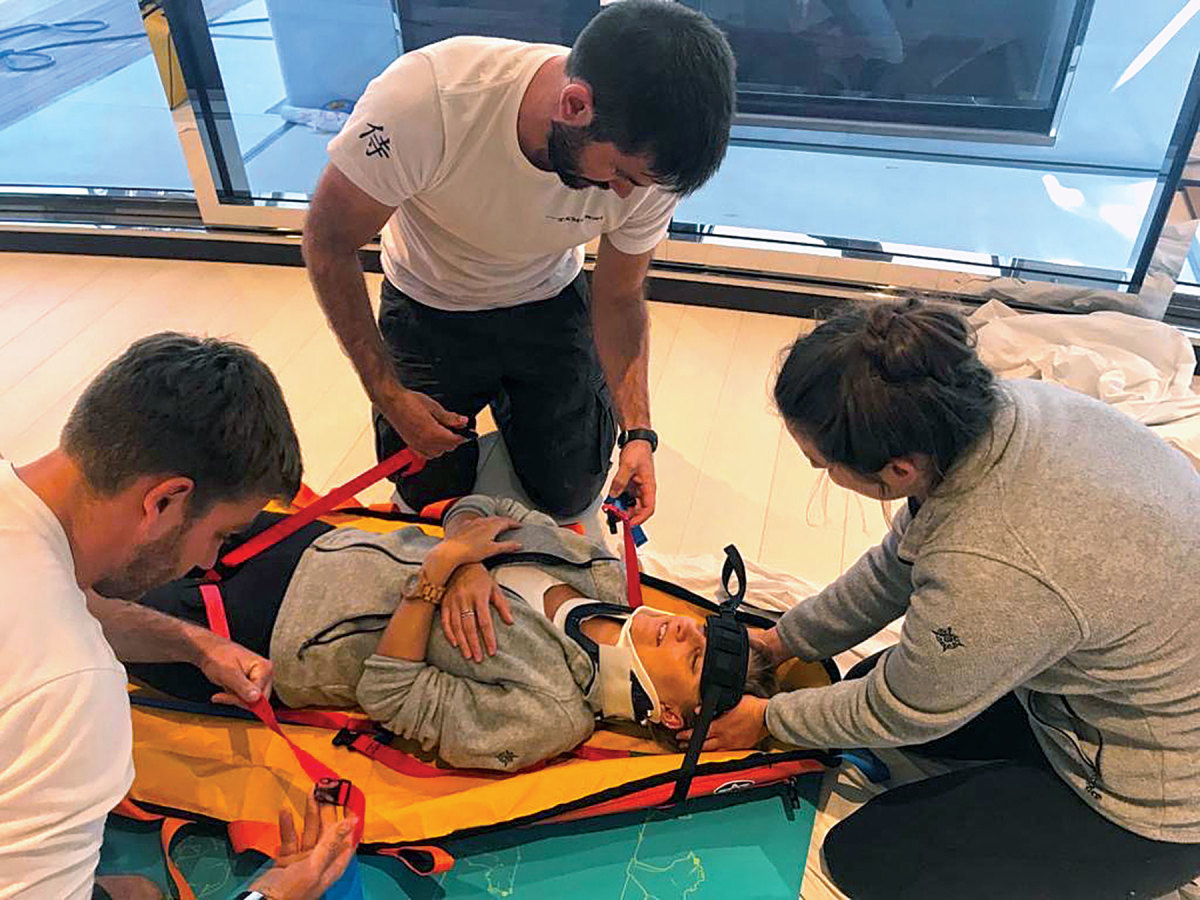 Being prepared for a medical emergency at sea begins with instruction.