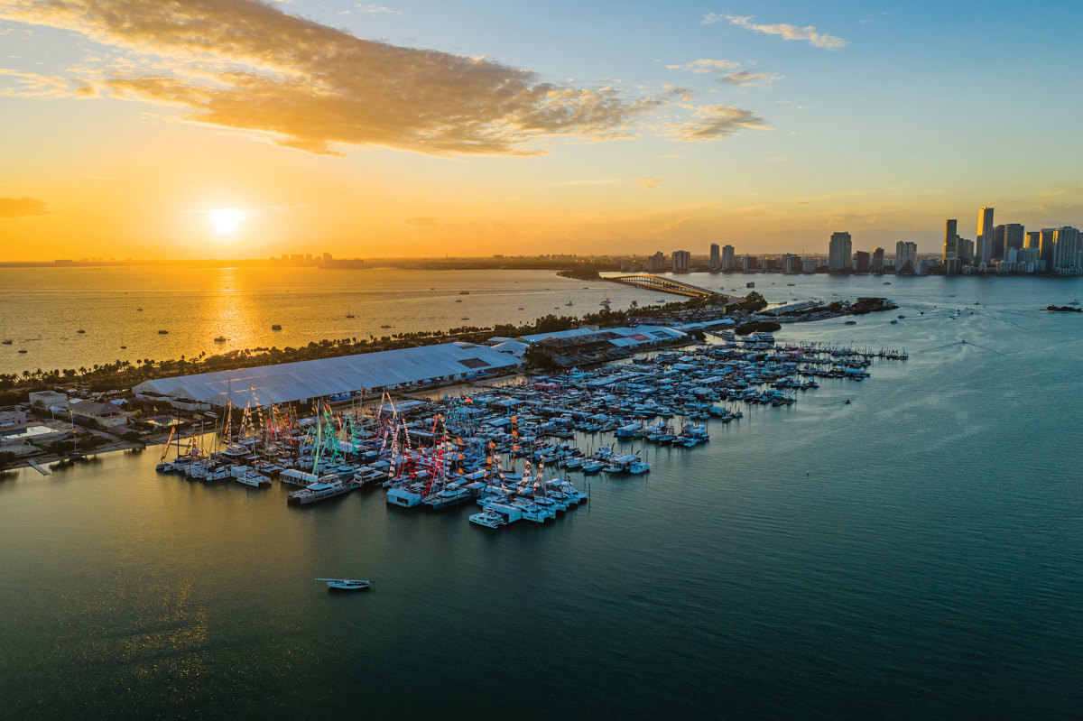 February's Miami International Boat Show was one of the last major events to be held pre-Covid.