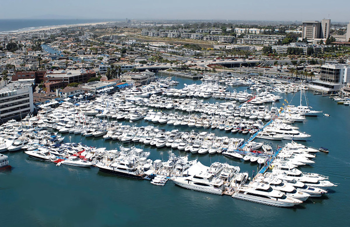 The Newport In-Water Boat Show at Lido Marina Village in Newport Beach, Calif., had been indefinitely postponed in July.