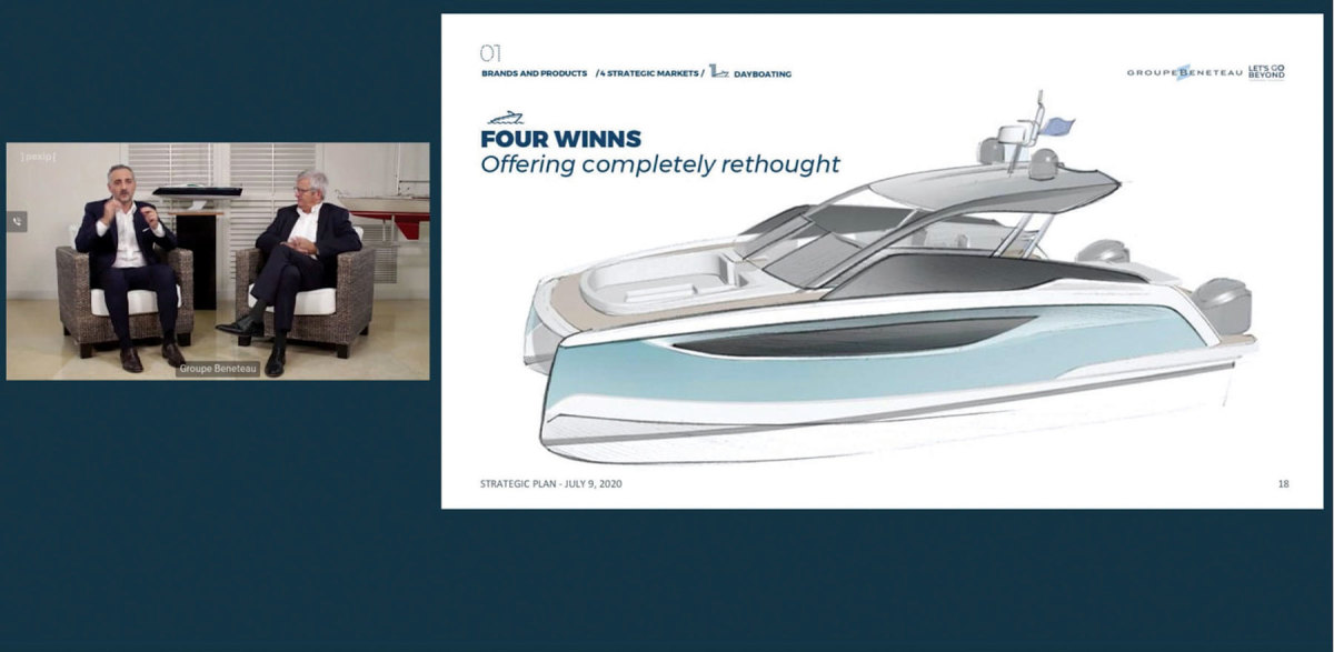 Four Winns deckboats and bowriders will be completely revamped, and the brand will be expanded to include an outboard catamaran line.