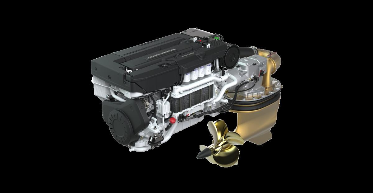 Volvo Penta's 1000-hp D13-IPS1350 drive