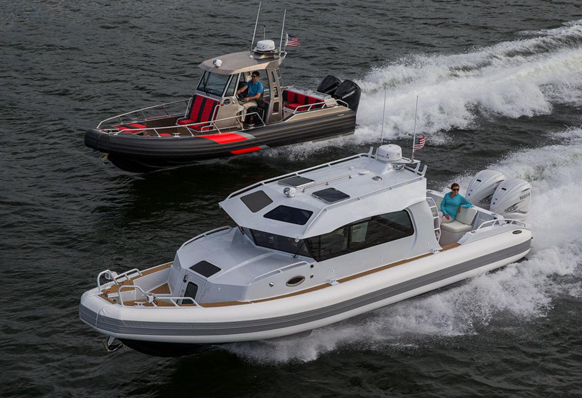 Life Proof Boats 33 Yachtline and 27 Hardtop.