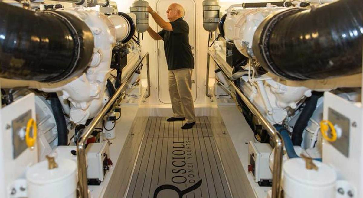 Roscioli was hands-on and involved in every step of the boatbuilding process.