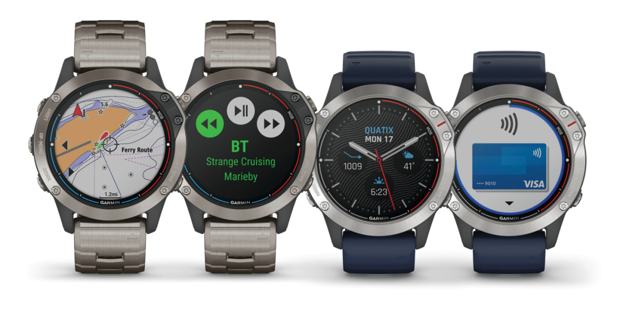 Garmin's GPS smartwatch series — the quatix 6X Solar — features a transparent solar charging display that uses the sun to extend battery life.