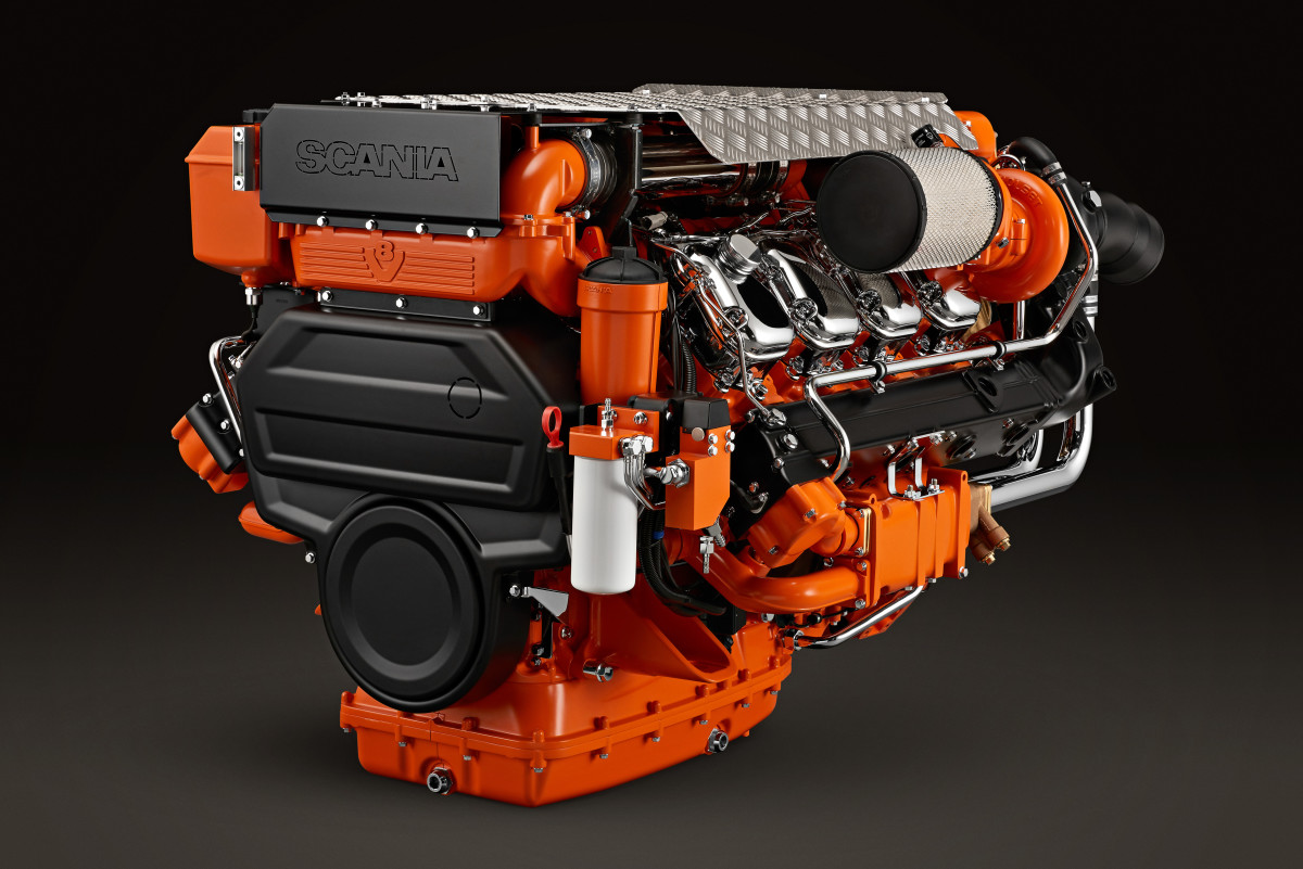 The 16-liter V-8 is available from 1,000 to 1,150 hp.