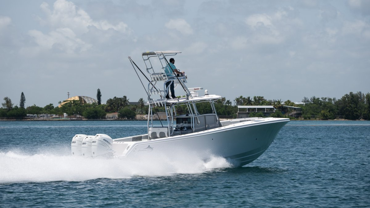 The company sees the 34-foot center console as very marketable in the Panhandle area.