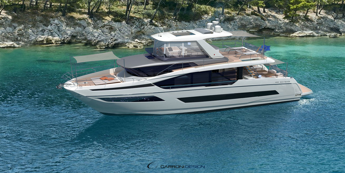 Prestige looks to expand its stronghold on the flybridge market with the X line, set to premiere later this year.