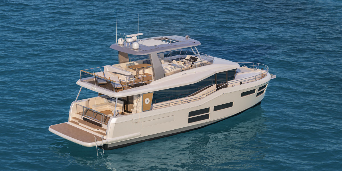 The E line is an offshoot of Beneteau's popular Swift Trawler line.