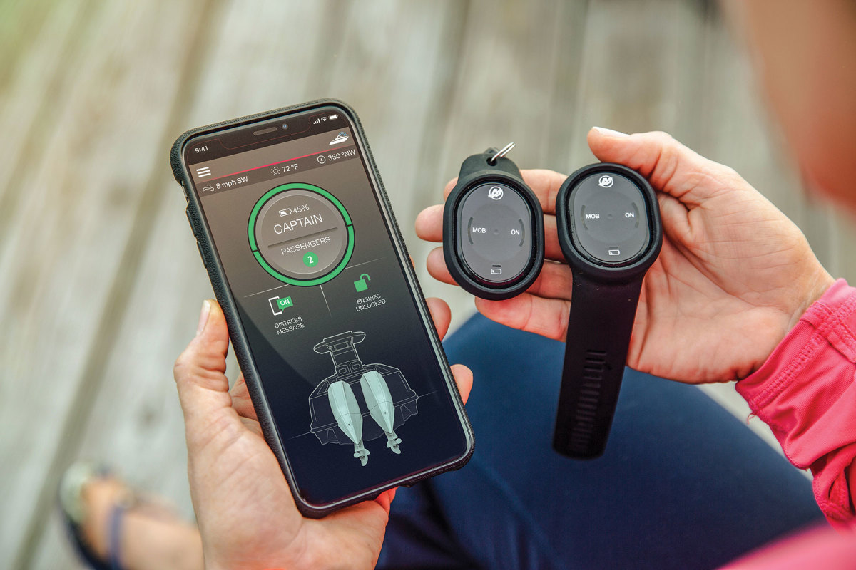Both 1st Mate (middle and right) utilize an app and wearables for maximum coverage.