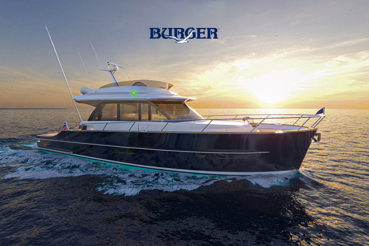 Triple, 1000-hp Volvo Penta IPS drives will give the 63 a top speed of 35 knots.