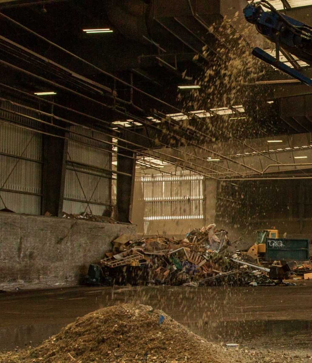 The recycled materials were used as filler in concrete.