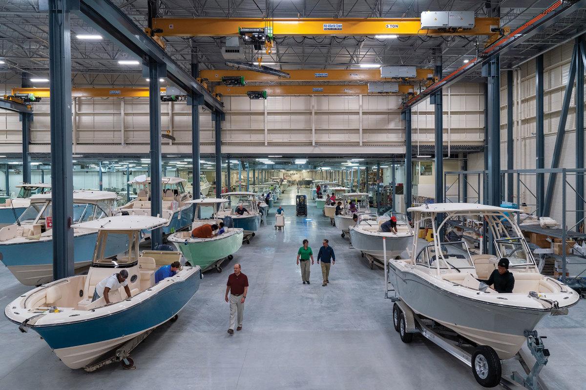 The massive Grady-White facility in Greenville, NC.