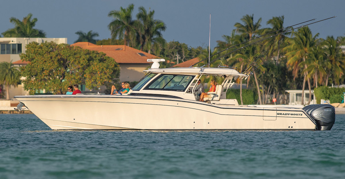 The Canyon 456 is the biggest boat Grady-White builds.