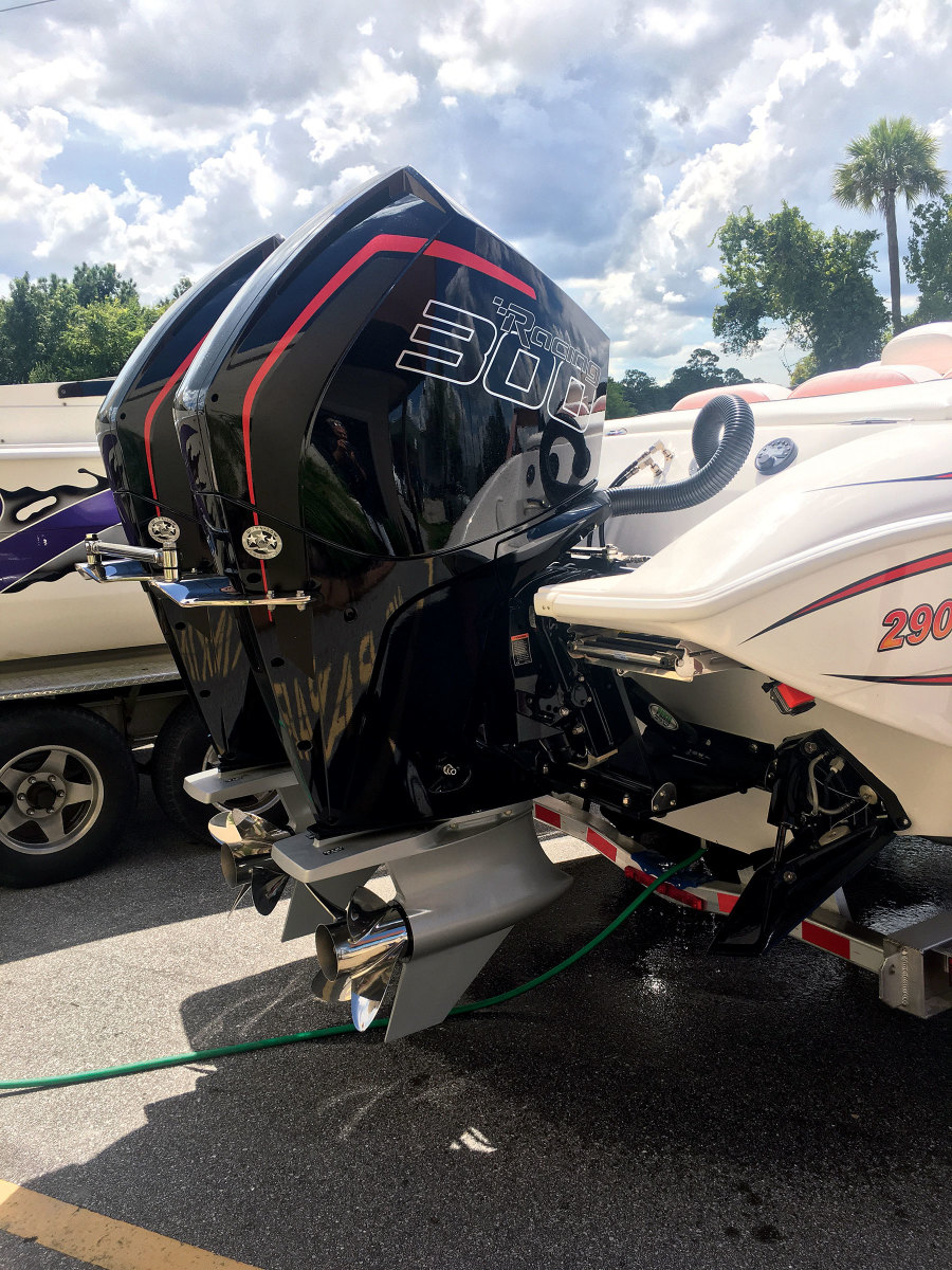 Porta Products' Transom Lift is designed for higher-horsepower outboards.