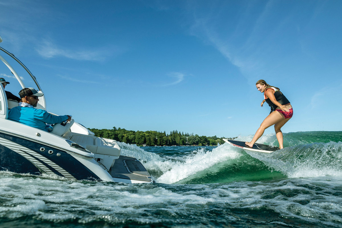 The new drives is aimed squarely at  the massive wakesurf category.