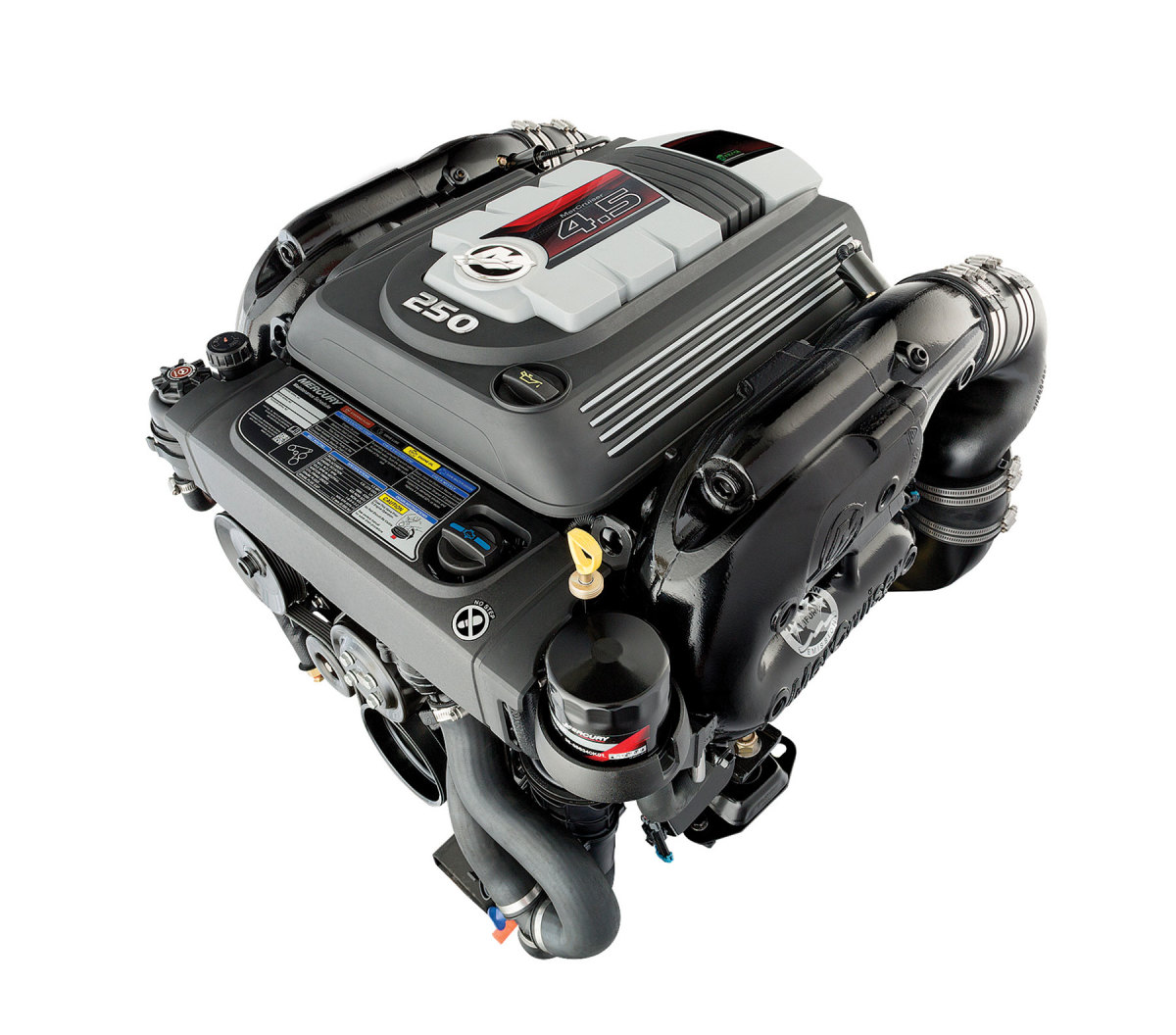 The new drive can be paired with several MerCruiser engines, including the 250-hp, 4.5-liter V-6.