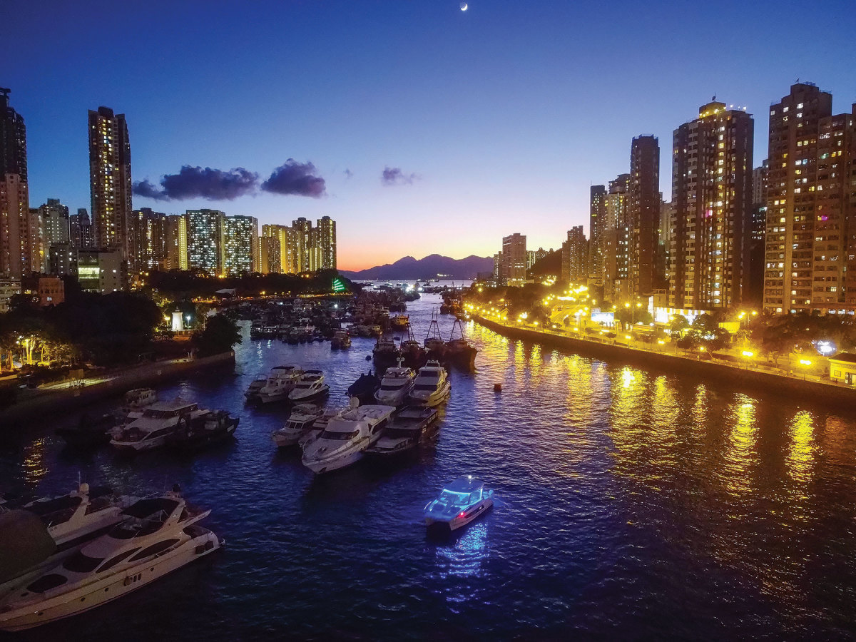 In March, boats could still be used in Hong Kong, even as restrictions on otheractivities tightened.