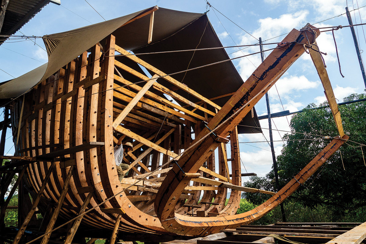 Ceiba is being built at a carbon-neutral yard in Costa Rica.