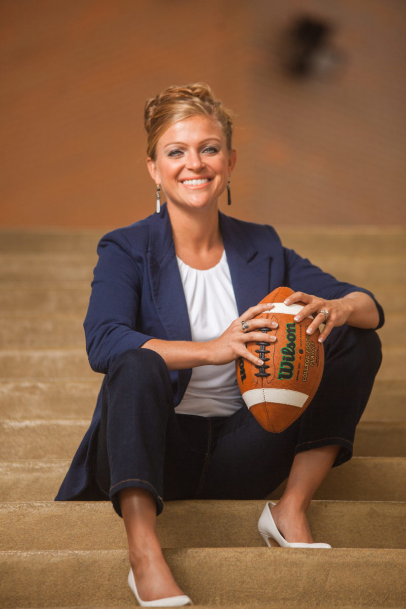 Selking Performance Group founder Amber Selking serves as the mental performance consultant to head coach Brian Kelly and the Notre Dame football team.
