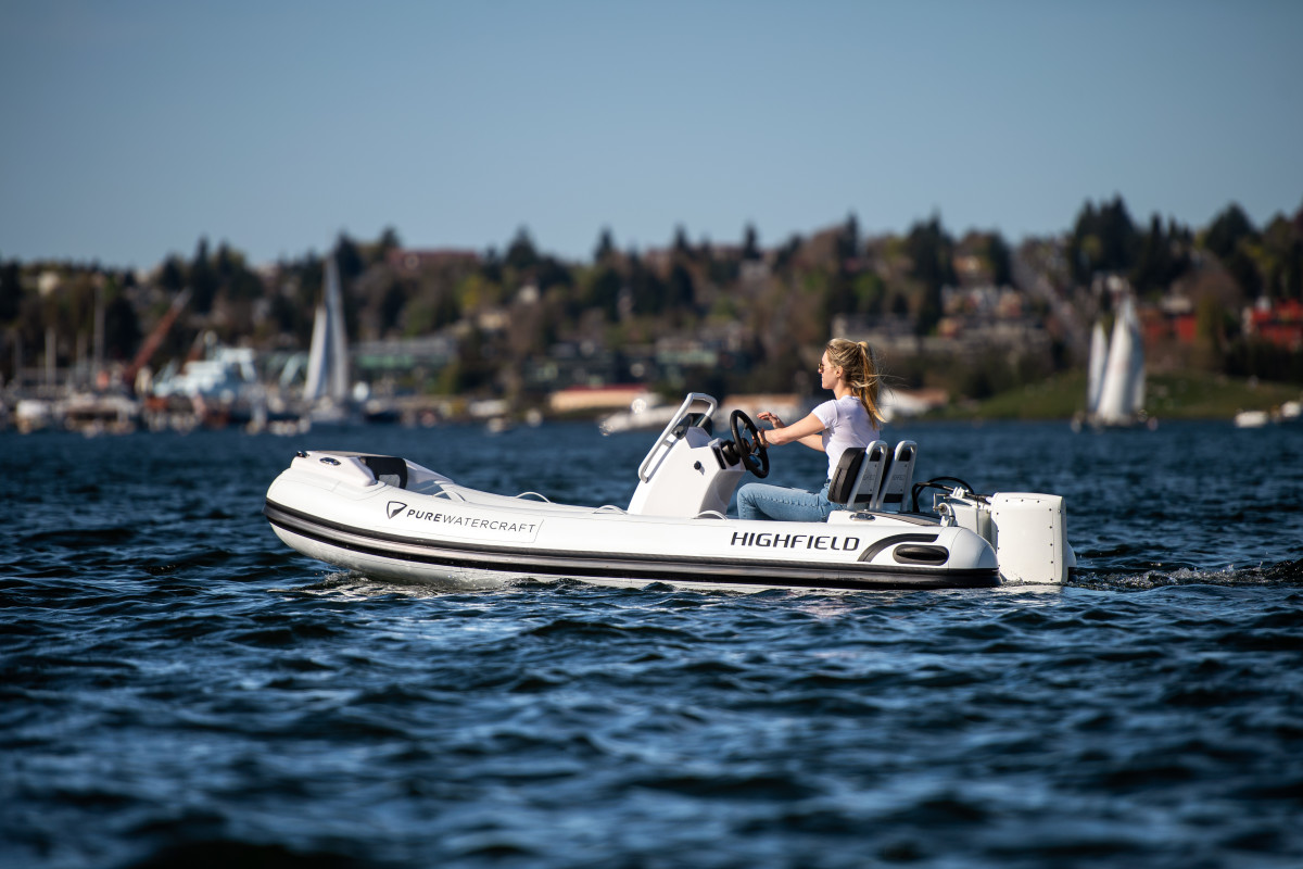 Highfield RIBs were among the first equipped with a Pure Watercraft electric propulsion package.