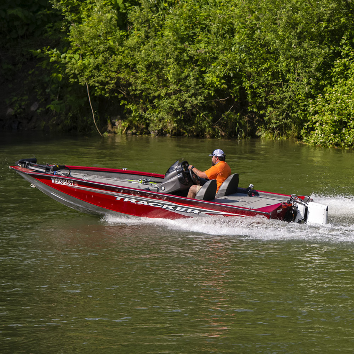 A Tracker bass boat is part of Pure's complete boat packages.