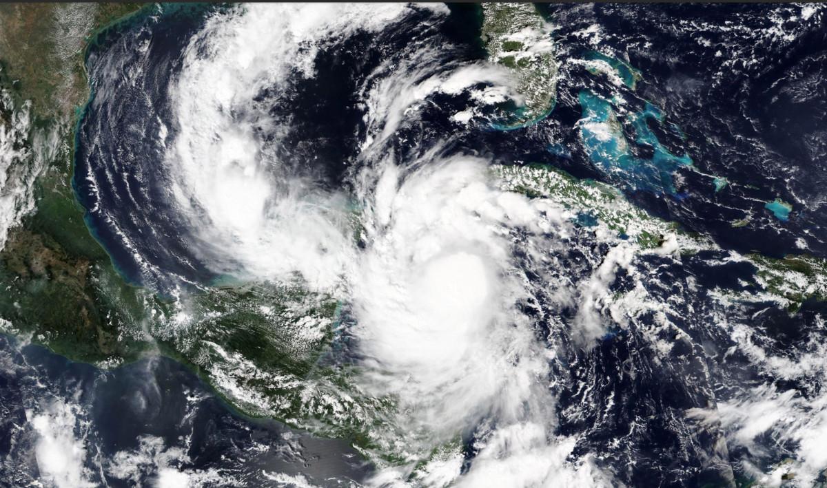 Delta as a Category 4 storm over the Caribbean. Photo: NASA