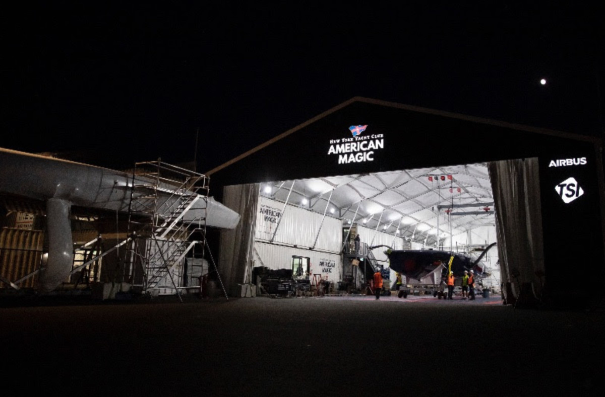 American Magic's base of operations in Auckland, New Zealand. Photo: American Magic/Will Ricketson