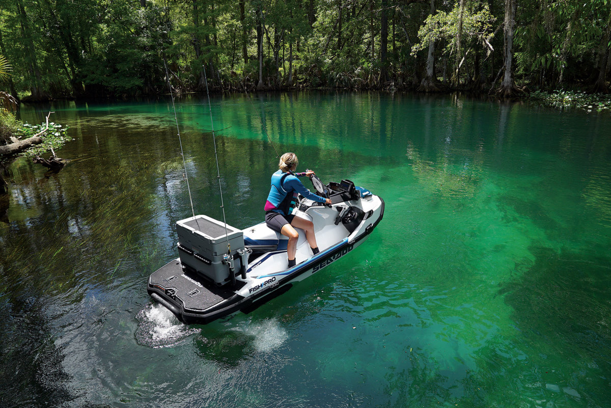 Sea-Doo's Fish Pro now includes the company's Intelligent Debris Free system