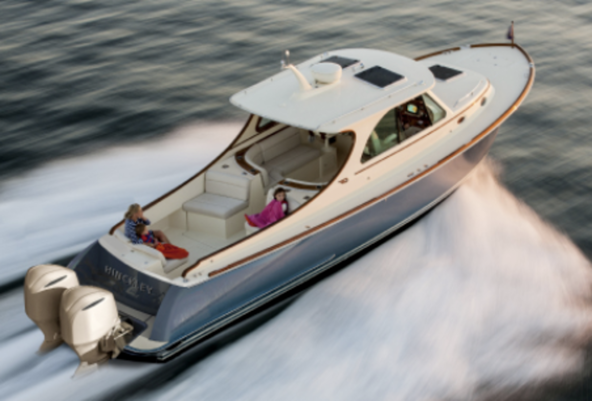 While reminiscent of the classic Picnic Boat, the Maine builder says the new 35 is in its own category.
