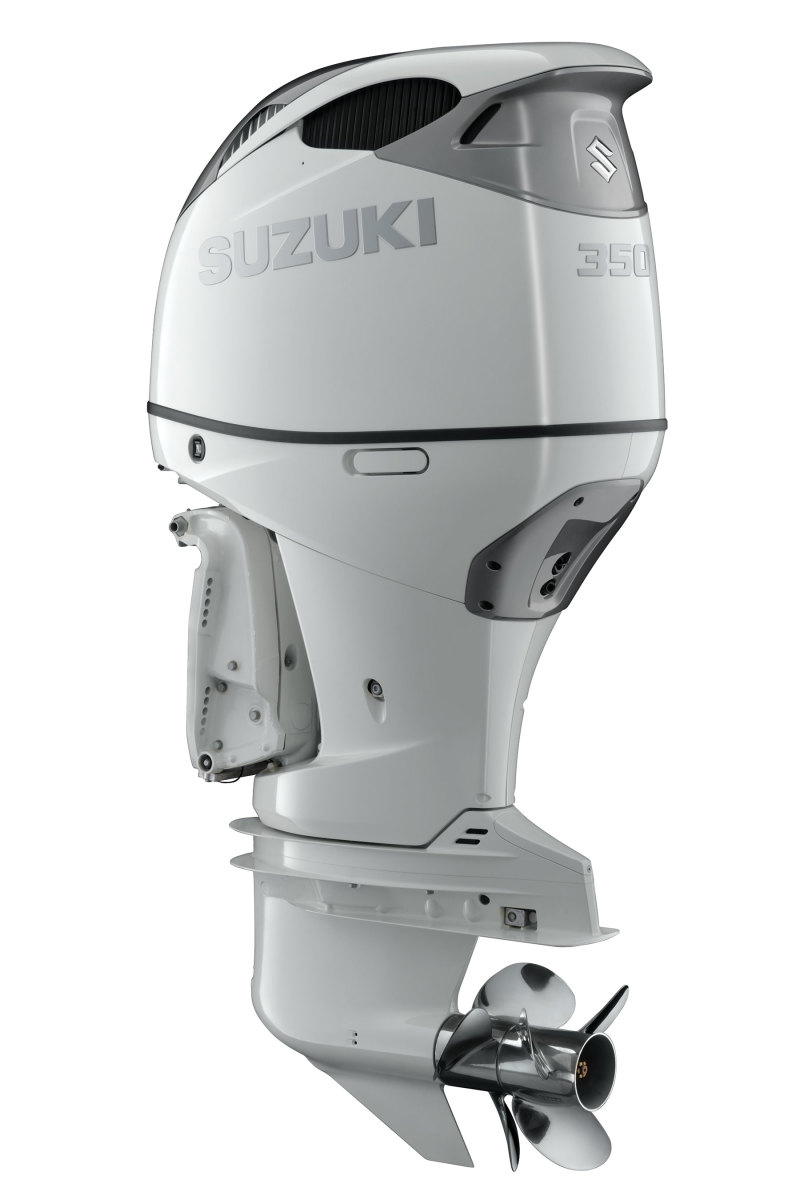 One of the things that set Suzuki apart are the OEM, contra-rotating props on its 350- and 300-hp outboards.