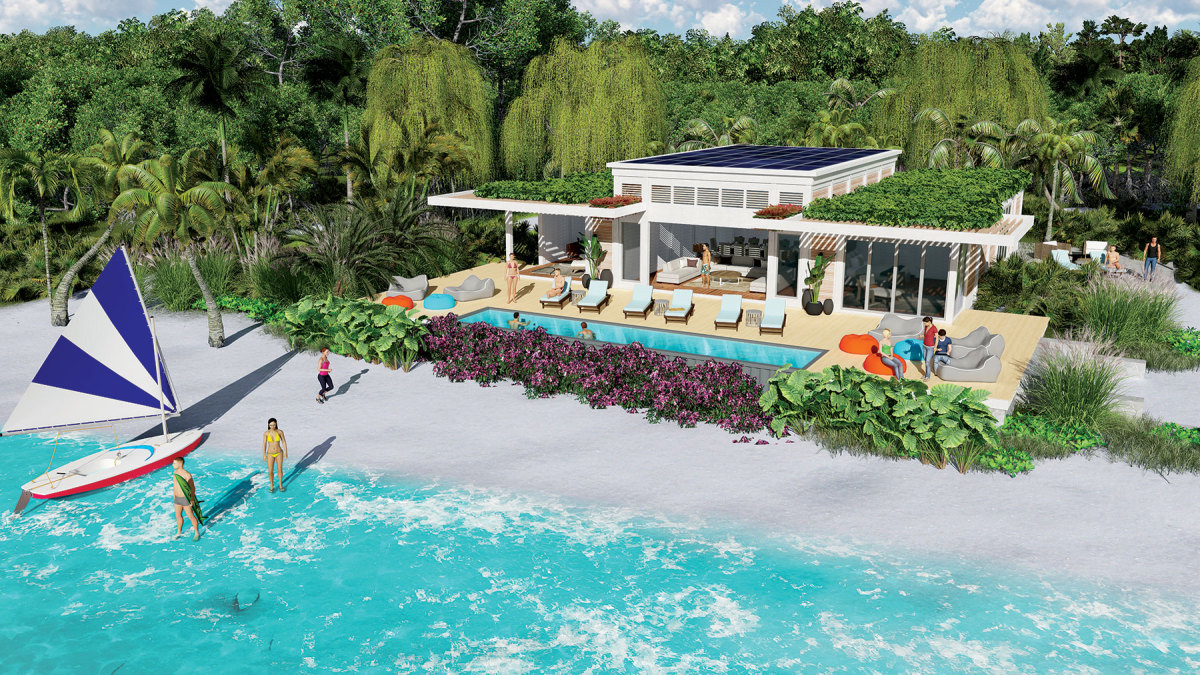 The resorts will include shoreside suites, so vacation time isn't restricted to the boat.