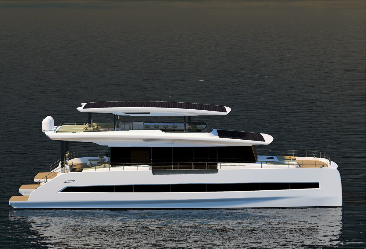 Silent-Yachts' catamarans are designed to minimize heat from the sun that would come through the windows of conventional boats.