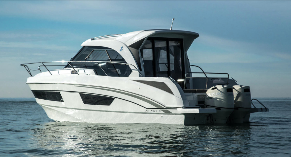 The boat group's outboard powered vessels have been offsetting market declines. Shown here is the Beneteau Antares 9 OB.