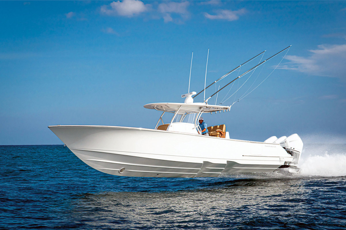 """High praise: Viking design manager David Wilson called the Peters-penned Valhalla the """"most advanced and proven stepped-hull design in the world."""""""
