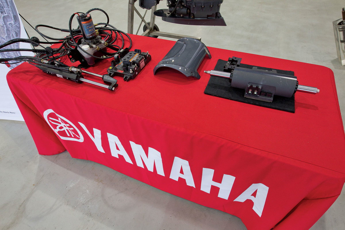 The weighty components that comprise older hydraulic steering systems are eye-opening when compared to Yamaha's new DES.