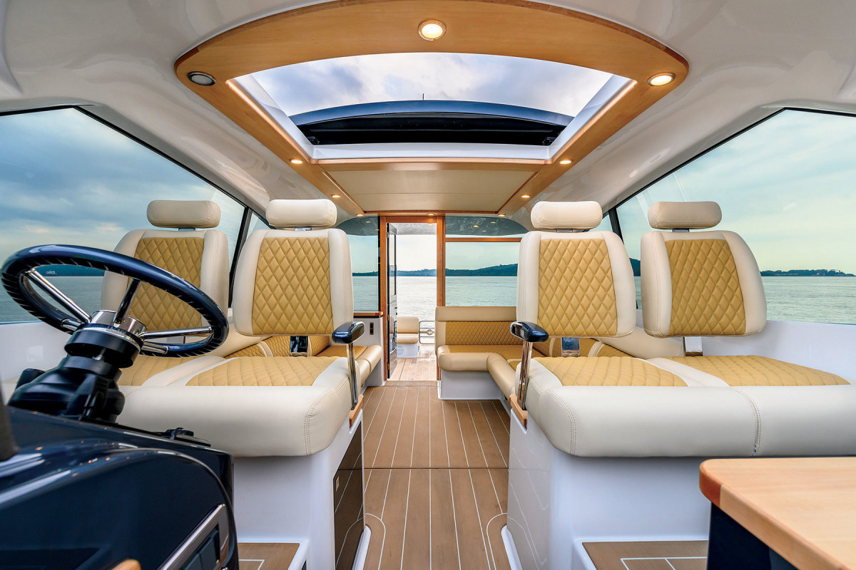 The racy interiors of Palm Beach's GT series are inspired by gran turismo sports cars.