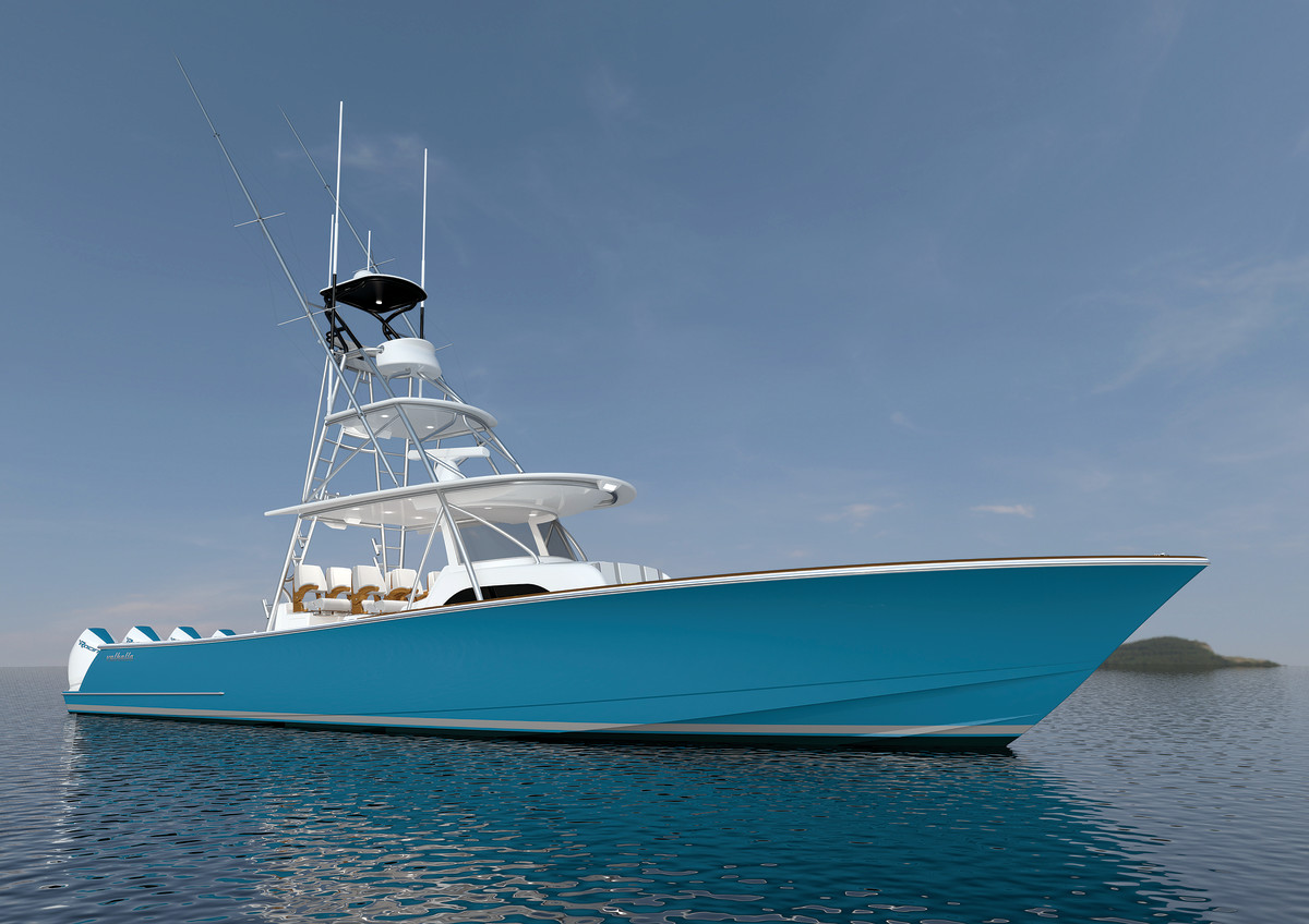 The flagship of the Valhalla Boatworks line, the V46, will premiere at the VIP event.