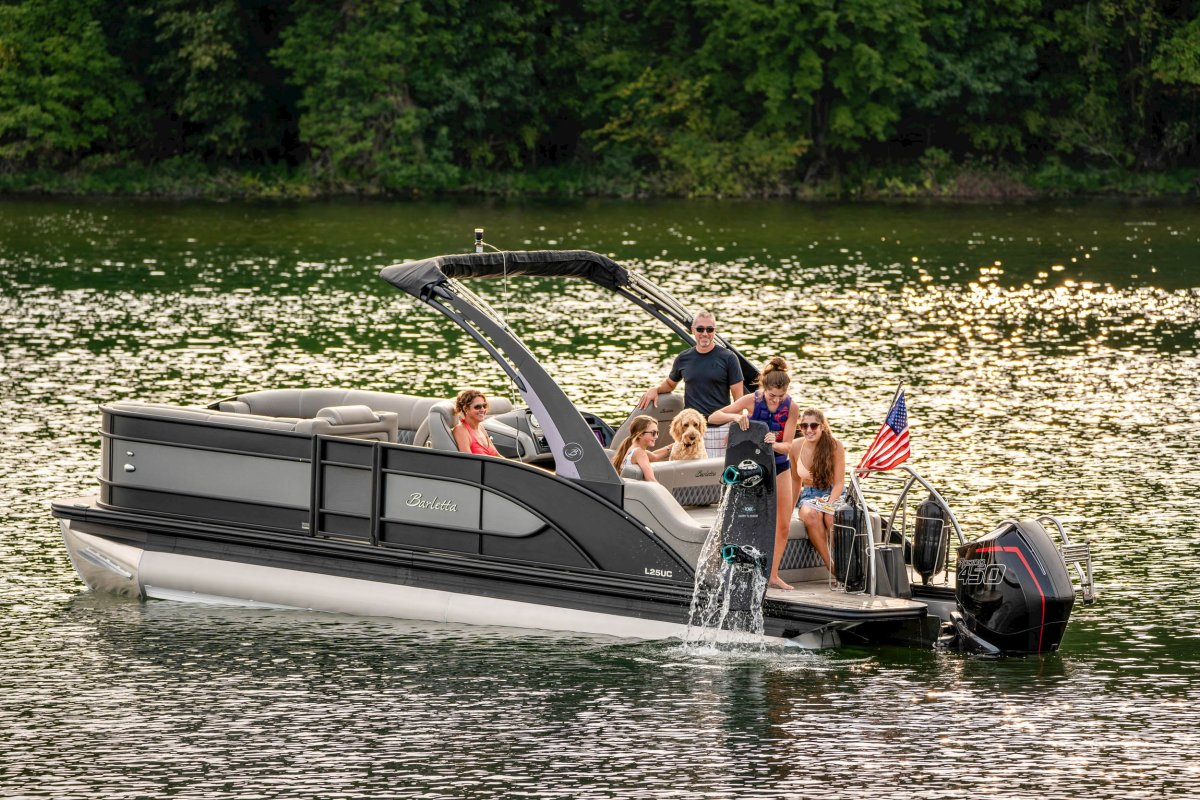 Pontoons were up 48 percent for the month.