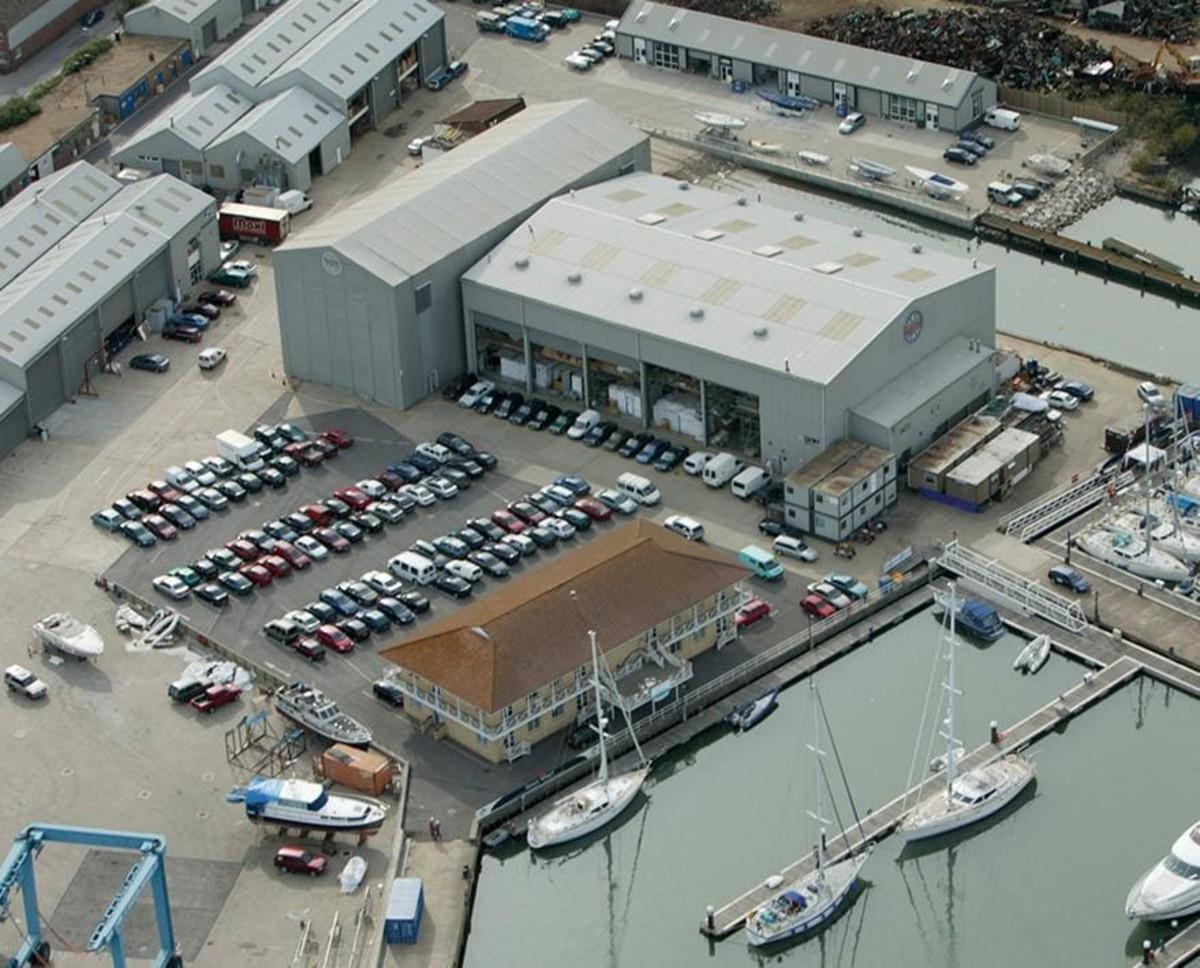 Oyster Yachts' Southampton yard.