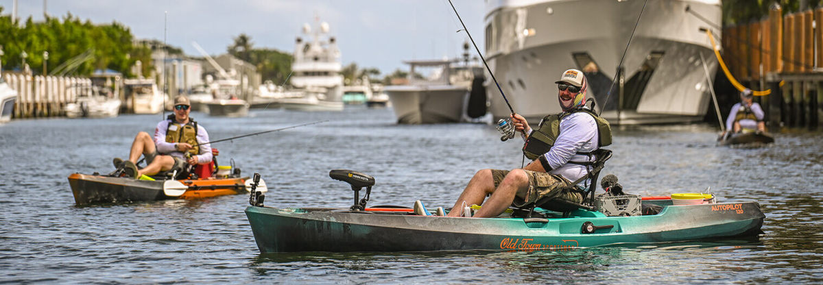 The fishing, camping and watercraft recreation segments saw sales for the quarter grow 58 percent. Shown is the Old Town Sportsman AutoPilot kayak with Minn Kota's Spot-Lock technology.