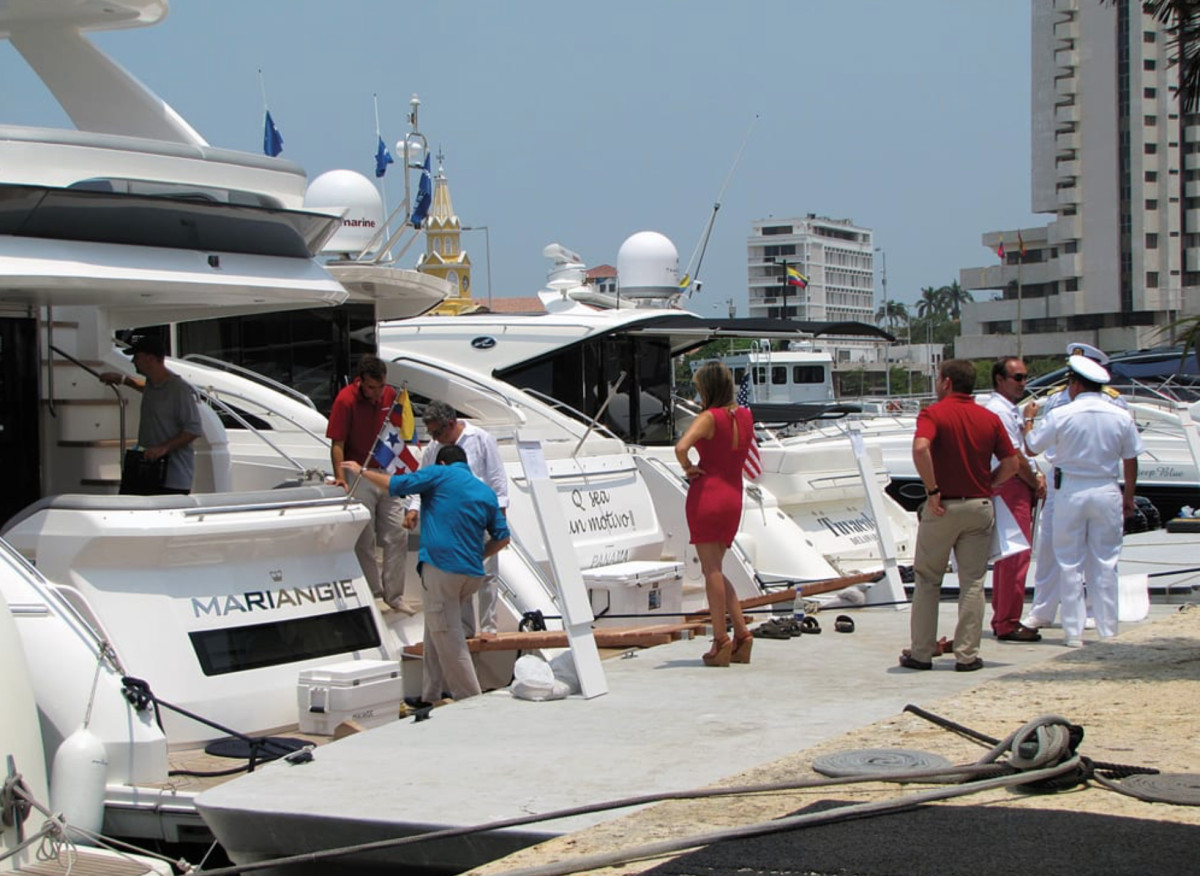 The Cartagena Boat Show grew between its first year in 2013 and the subsequent show in 2014.
