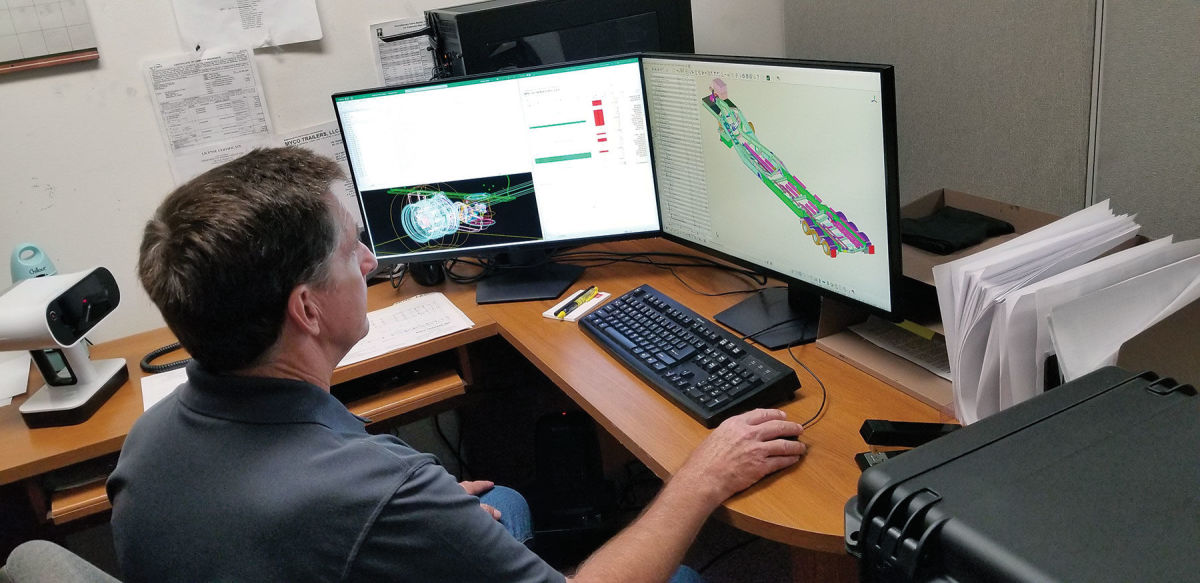 MYCO utilizes 3D modeling for each custom trailer to ensure a perfect fit.