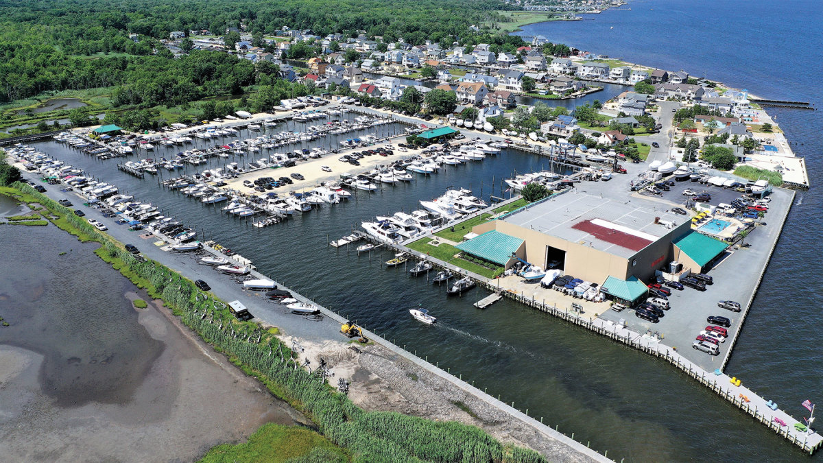 Key Harbor Marina in Waretown, N.J., is one of the brokerage listings with National Marina Sales, which specializes in these properties.